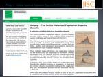 project 1 online historical population reports ohpr histpop