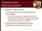 rela o entre macroprocessos1
