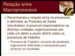 rela o entre macroprocessos2