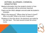 asthma allergies chemical sensitivities