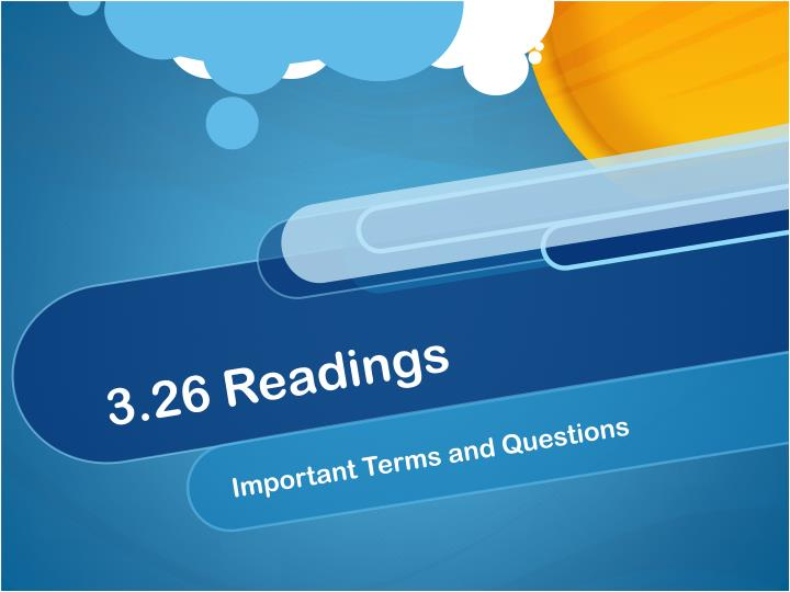 3 26 readings n.