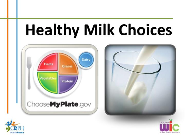 healthy milk choices n.
