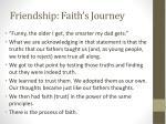 friendship faith s journey