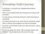 friendship faith s journey1