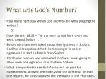 what was god s number