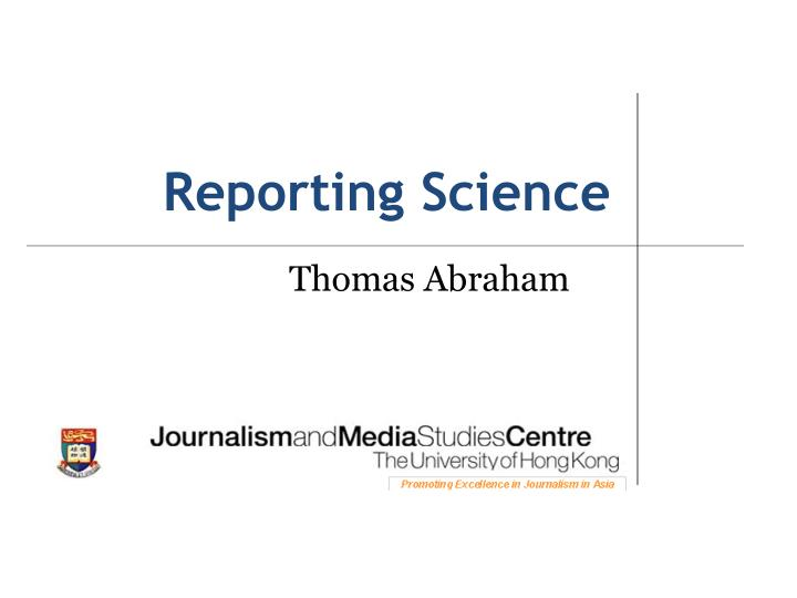 reporting science n.