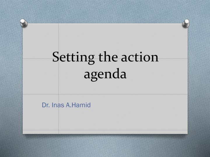 setting the action agenda n.