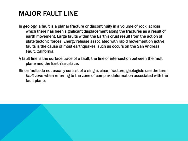 Major fault line