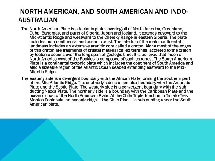 north American, and south American and indo-