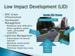 low impact development lid