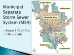 municipal separate storm sewer system ms4