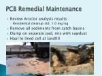 pcb remedial maintenance