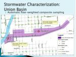stormwater characterization union basin