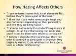 how hazing a ffects o thers
