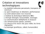 cr ation et innovations technologiques