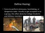 define hazing