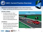 cacc current practice overview