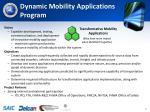dynamic mobility applications program
