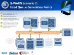 q warn scenario 2 fixed queue generation points