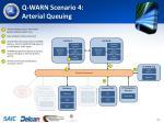 q warn scenario 4 arterial queuing
