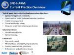 spd harm current practice overview