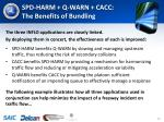 spd harm q warn cacc the benefits of bundling
