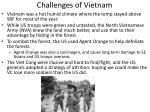challenges of vietnam
