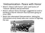 vietnamization peace with honor