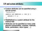 c and custom attributes
