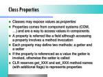 class properties