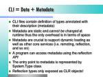 cli data metadata
