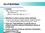 use of myattribute