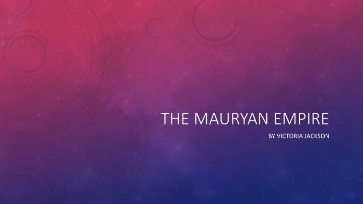 the mauryan empire n.