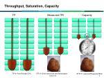 throughput saturation capacity