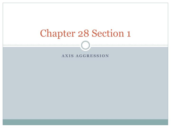 chapter 28 section 1 n.