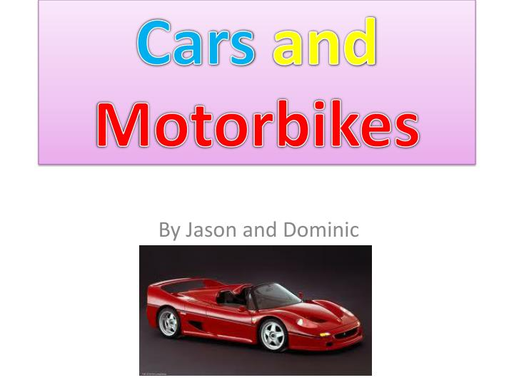 cars and motorbikes n.