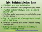 cyber bullying a serious issue