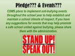 pledge events