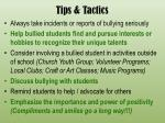 tips tactics