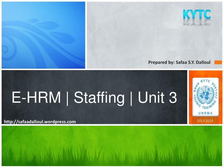 e hrm staffing unit 3 n.