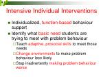 intensive individual interventions