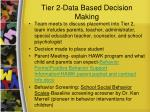 tier 2 data based decision making