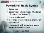 powershell basic syntax