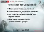 powershell for compliance