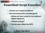 powershell script execution