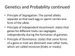 genetics and probability continued1