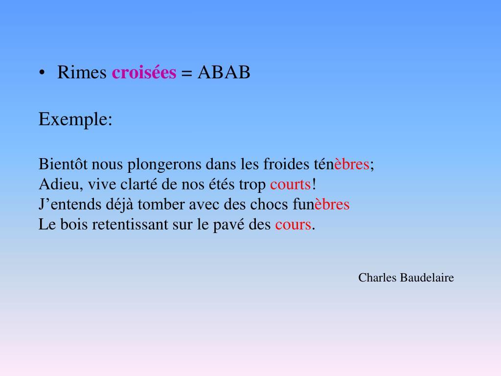 Avec rimes poeme embrassées des Poésie :