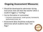 ongoing assessment measures