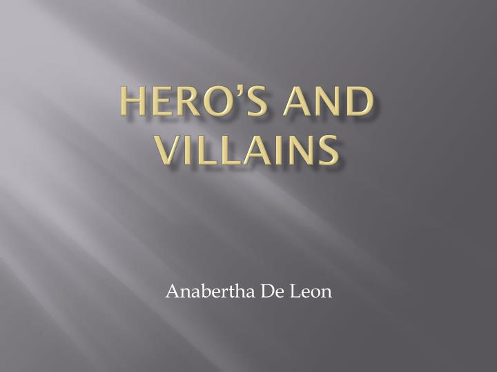 hero s and villains n.