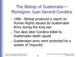 the bishop of guatemala monsignor juan gerardi condera
